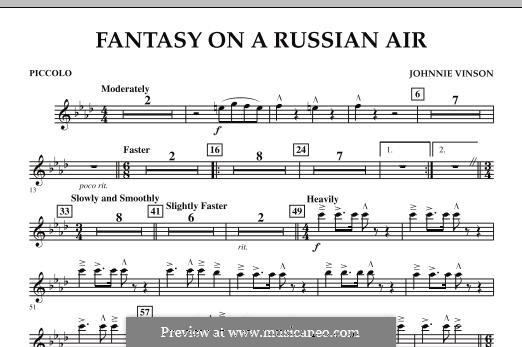 Fantasy on a Russian Air: Piccolo part by Johnnie Vinson