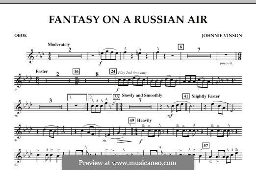 Fantasy on a Russian Air: Oboe part by Johnnie Vinson