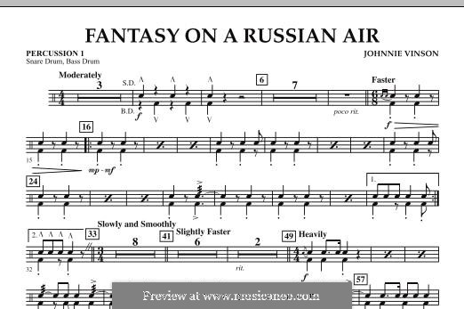 Fantasy on a Russian Air: Percussion 1 part by Johnnie Vinson