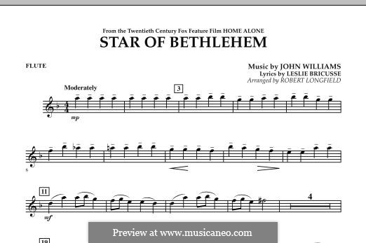 The Star of Bethlehem (from 'Home Alone'): Flute part by John Williams