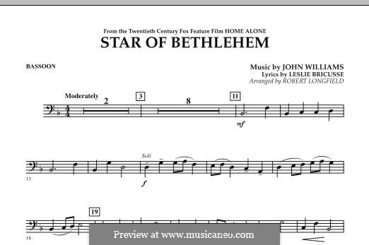 The Star of Bethlehem (from 'Home Alone'): Bassoon part by John Williams