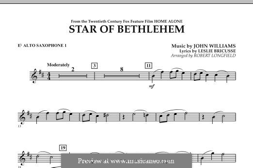 The Star of Bethlehem (from 'Home Alone'): Eb Alto Saxophone 1 part by John Williams