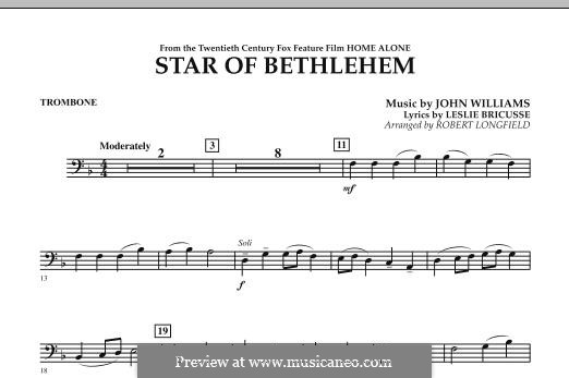The Star of Bethlehem (from 'Home Alone'): Trombone part by John Williams