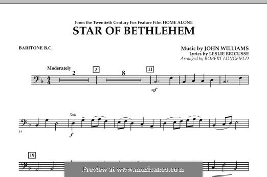 The Star of Bethlehem (from 'Home Alone'): Baritone B.C. part by John Williams