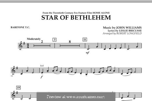 The Star of Bethlehem (from 'Home Alone'): Baritone T.C. part by John Williams