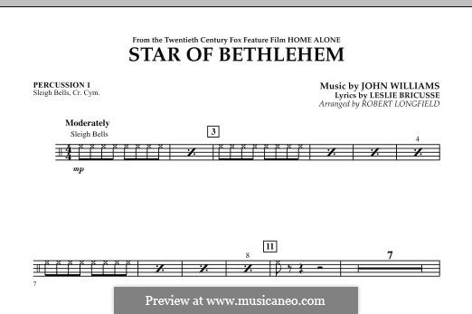 The Star of Bethlehem (from 'Home Alone'): Percussion 1 part by John Williams