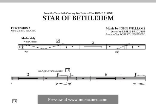 The Star of Bethlehem (from 'Home Alone'): Percussion 2 part by John Williams