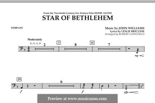The Star of Bethlehem (from 'Home Alone'): Timpani part by John Williams