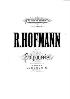 Potpourri on 'Lohengrin' by Wagner for Flute, Violin, Cello and Piano: Piano part by Richard Hofmann