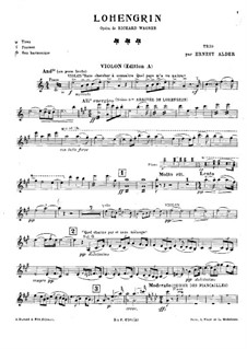 Fragments: For piano trio – violin part by Richard Wagner