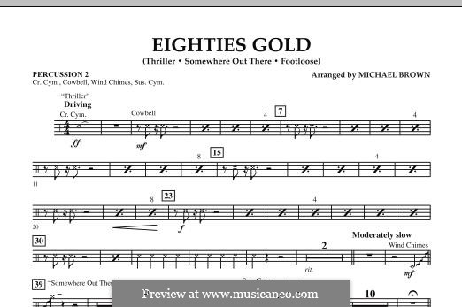 Eighties Gold: Percussion 2 part by Barry Mann, Cynthia Weil, James Horner, Kenny Loggins, Rod Temperton