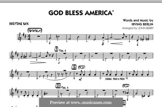 God Bless America: Baritone Sax part by Irving Berlin