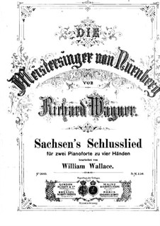 Sachsen's Schlusslied: For two pianos four hands by Richard Wagner