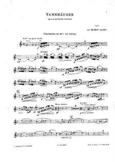 Fragments: For piano trio – clarinet part (ad libitum) by Richard Wagner