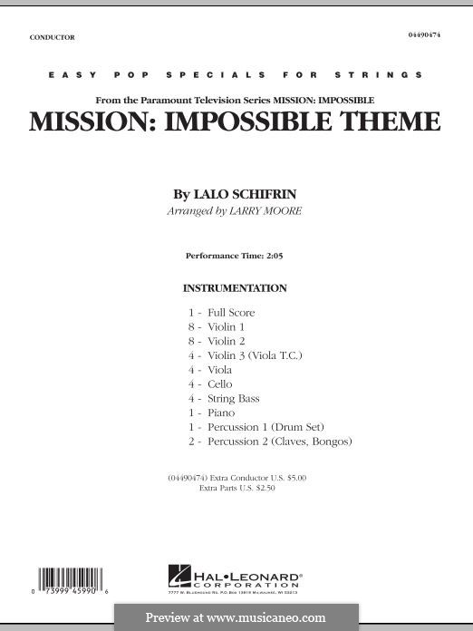 Mission: Impossible Theme: Full score by Lalo Schifrin