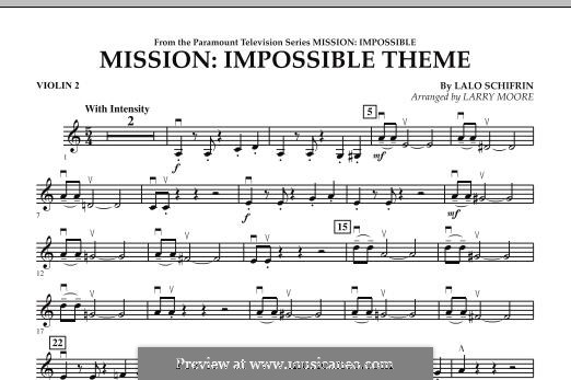 Mission: Impossible Theme: Violin 2 part by Lalo Schifrin