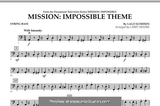 Mission: Impossible Theme: String Bass part by Lalo Schifrin