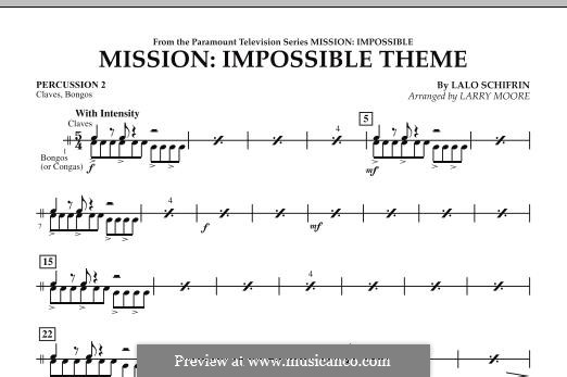 Mission: Impossible Theme: Percussion 2 part by Lalo Schifrin