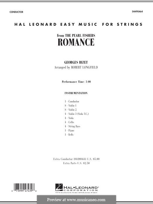 Je crois entendre encore: Conductor score (full score) by Georges Bizet