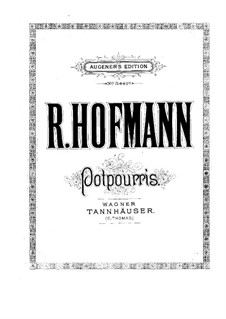 Potpourri on 'Tannhäuser' by Wagner for Flute, Violin, Cello and Piano: Piano part by Richard Hofmann