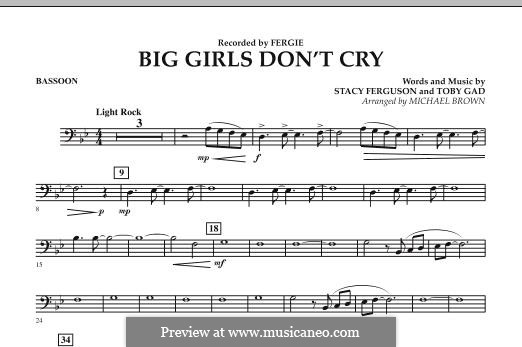Big Girls Don't Cry (Fergie): Bassoon part by Stacy Ferguson, Tobias Gad