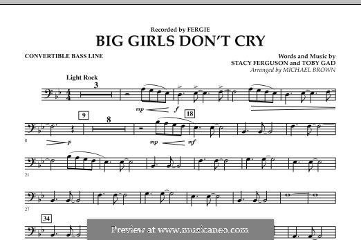 Big Girls Don't Cry (Fergie): Convertible Bass Line part by Stacy Ferguson, Tobias Gad