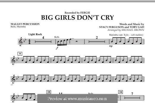 Big Girls Don't Cry (Fergie): Mallet Percussion part by Stacy Ferguson, Tobias Gad