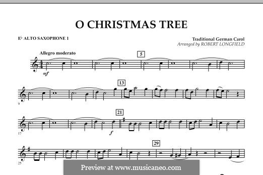 O Christmas Tree, for Orchestra: Eb Alto Saxophone 1 part by folklore