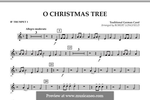 O Christmas Tree, for Orchestra: Bb Trumpet 1 part by folklore