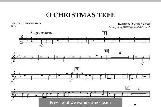 O Christmas Tree, for Orchestra: Mallet Percussion part by folklore