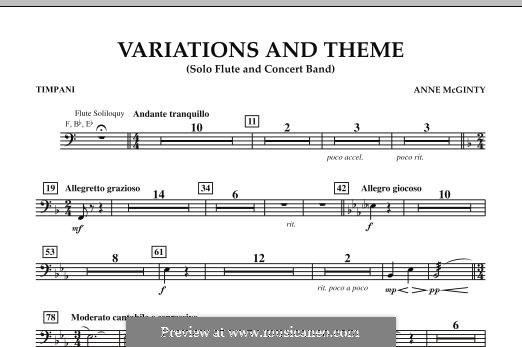 Variations and Theme (for Flute Solo and Band): Timpani part by Anne McGinty