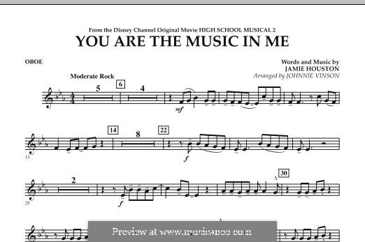 You are the Music in Me (High School Musical 2): Oboe part by Jamie Houston