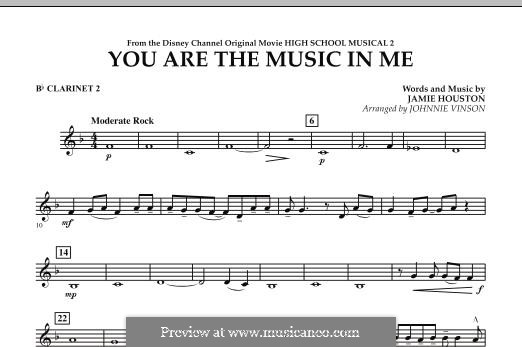 You are the Music in Me (High School Musical 2): Bb Clarinet 2 part by Jamie Houston