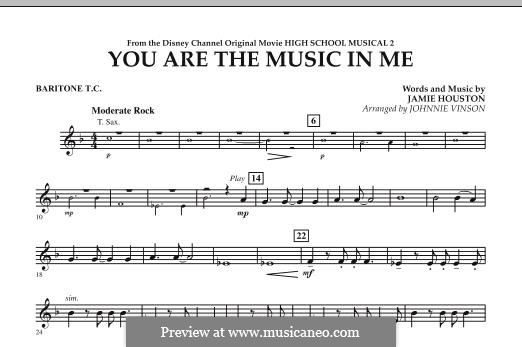 You are the Music in Me (High School Musical 2): Baritone T.C. part by Jamie Houston