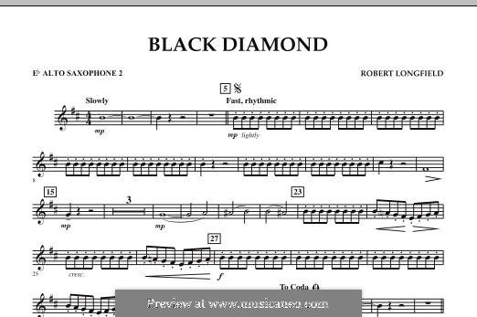 Black Diamond: Eb Alto Saxophone 2 part by Robert Longfield