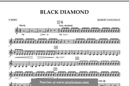 Black Diamond: F Horn part by Robert Longfield