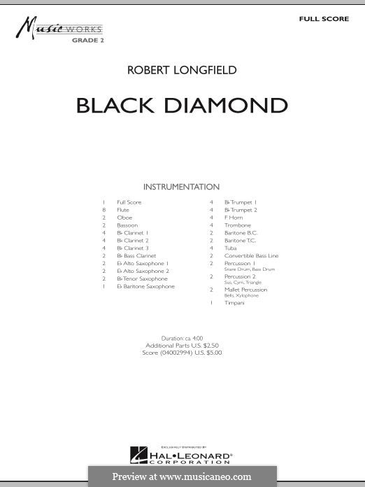 Black Diamond: Full score by Robert Longfield