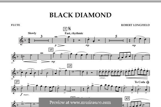 Black Diamond: Flute part by Robert Longfield