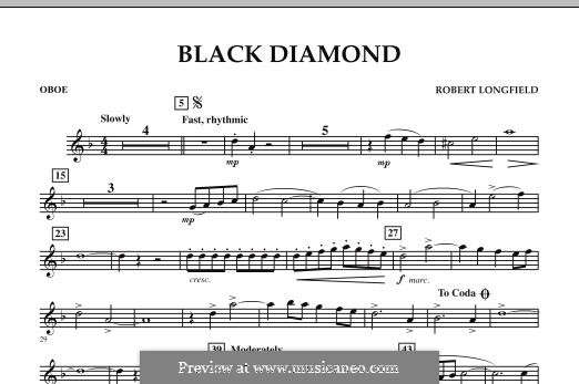 Black Diamond: Oboe part by Robert Longfield