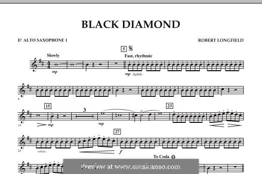 Black Diamond: Eb Alto Saxophone 1 part by Robert Longfield