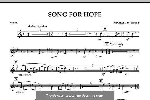 Song for Hope: Oboe part by Michael Sweeney