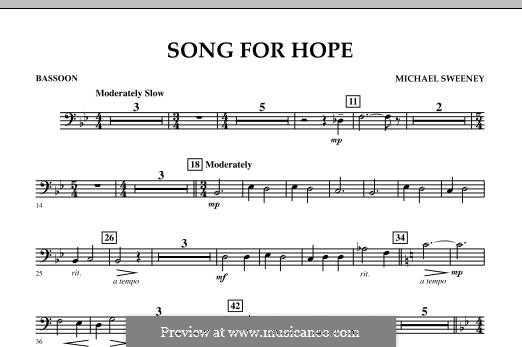Song for Hope: Bassoon part by Michael Sweeney