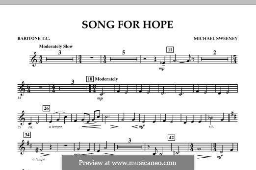 Song for Hope: Baritone T.C. part by Michael Sweeney