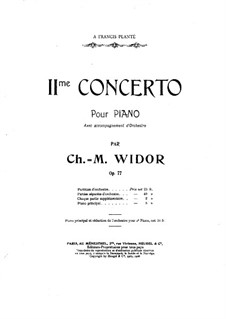 Piano Concerto No.2, Op.77: First part by Charles-Marie Widor