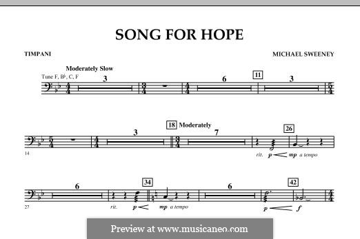 Song for Hope: Timpani part by Michael Sweeney
