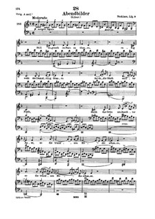 Abendbilder, D.650: For low voice and piano by Franz Schubert