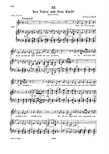 Der Vater mit dem Kind (The Father with His Child), D.906: For low voice and piano by Franz Schubert
