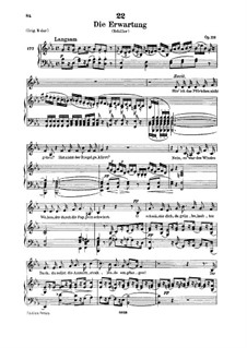 Die Erwartung (Anticipation), D.159 Op.116: For low voice and piano by Franz Schubert