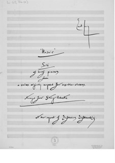Mosaic. Suite for String Orchestra: Full score by Ernst Levy