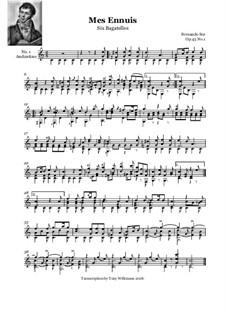 Six Bagatelles, Op.43: Complete set by Fernando Sor